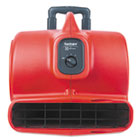 EURSC6054 - Commercial Three-Speed Air Mover with Built-on Dolly, 5 amp, Red, 25 ft Cord