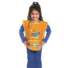 CKC5207 - Kraft Artist Smock, Fits Kids Ages 3-8, Vinyl, One Size Fits All, Bright Colors