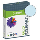 UNV11202 - Colored Paper, 20lb, 8-1/2 x 11, Blue, 500 Sheets/Ream