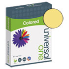 UNV11205 - Colored Paper, 20lb, 8-1/2 x 11, Goldenrod, 500 Sheets/Ream