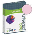 UNV11204 - Colored Paper, 20lb, 8-1/2 x 11, Pink, 500 Sheets/Ream