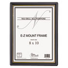 NUD11800 - EZ Mount Document Frame/Accent, Plastic, 8 x 10, Black/Gold