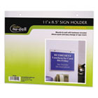 NUD38008Z - Clear Plastic Sign Holder, Wall Mount, 11 X 8 1/2