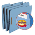 SMD12040 - Folders, Two Fasteners, 1/3 Cut Assorted Top Tab, Letter, Blue, 50/Box