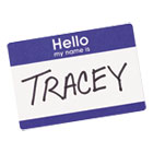 "AVE5141 - Printable Self-Adhesive Name Badges, 2 1/3 x 3 3/8, Blue ""Hello"", 100/Pack"