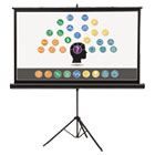 QRT85567 - Wide Format Tripod Base Projection Screen, 45 x 80, White