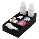 VRTVFCC169 - Condiment Caddy, 8 3/4w x 16d x 5 1/4h, Black