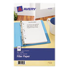 AVE14230 - Mini Binder Filler Paper, 5-1/2 x 8 1/2, 7-Hole Punch, College Rule, 100/Pack