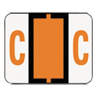 SMD67073 - A-Z Color-Coded Bar-Style End Tab Labels, Letter C, Dark Orange, 500/Roll