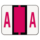 SMD67071 - A-Z Color-Coded Bar-Style End Tab Labels, Letter A, Red, 500/Roll