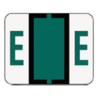 SMD67075 - A-Z Color-Coded Bar-Style End Tab Labels, Letter E, Dark Green, 500/Roll