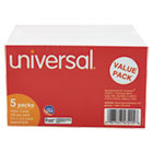 UNV47215 - Ruled Index Cards, 3 x 5, White, 500/Pack