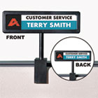 AVT75334 - People Pointer Cubicle Sign, Plastic, 9 x 2 1/2, Black