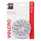 VEK90090 - Sticky-Back Hook and Loop Dot Fasteners, 5/8 Inch, White, 75/Pack