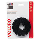 VEK90089 - Sticky-Back Hook and Loop Dot Fasteners, 5/8 Inch, Black, 75/Pack