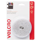 VEK90087 - Sticky-Back Hook and Loop Fastener Tape with Dispenser, 3/4 x 5 ft. Roll, White