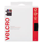 VEK90081 - Sticky-Back Hook and Loop Fastener Tape with Dispenser, 3/4 x 15 ft. Roll, Black