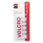 VEK90070 - Sticky-Back Hook and Loop Dot Fasteners on Strips, 5/8 dia., White, 15 Sets/Pack