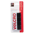 "VEK90072 - Sticky-Back Hook and Loop Square Fasteners on Strips, 7/8"", Black, 12 Sets/Pack"
