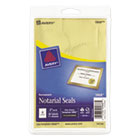 "AVE05868 - Printable Gold Foil Seals, 2"" dia, 44/Pack"