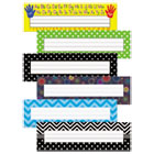 TCR9939 - Nameplate Set, 11.5 x 3.5, Assorted Colors, 216/Set
