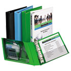 "AVE23030 - Mini Protect & Store View Binder w/Round Rings, 8 1/2 x 5 1/2, 1"" Cap, Green"