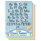 PAC74733 - Colored Chart Tablet, Ruled, 24 x 32, YW/Pink/Salmon/BE/GN, 25 Sheets