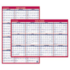 AAGPM2628 - Erasable Vertical/Horizontal Wall Planner, 24 x 36, Blue/Red, 2016