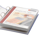 SMD89500 - Poly Ring Binder Pockets, 9 x 11-1/2, Clear, 3/Pack