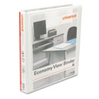 "UNV20962CT - Economy Round Ring View Binder, 1"" Capacity, White, 12/Carton"