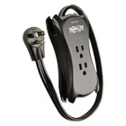 "TRPTRAVELER3USB - 3-Outlet Travel-Size Surge Protector, 18"" Cord, 2-Port 2.1A USB Charger, 1050 J"