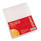 UNV81525 - Project Folders, Jacket, Poly, Letter, Clear, 25/Pack