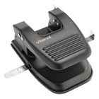 "UNV74222 - 30-Sheet Two-Hole Punch, 9/32"" Holes, Black"