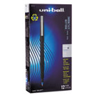 SAN60153 - Roller Ball Stick Dye-Based Pen, Blue Ink, Micro, Dozen