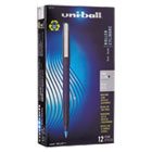SAN60103 - Roller Ball Stick Dye-Based Pen, Blue Ink, Fine, Dozen