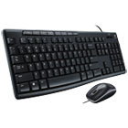 LOG920002714 - MK200 Media Combo, Keyboard/Mouse, Wired, USB, Black