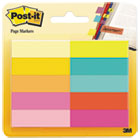MMM67010AB - Page Flag Markers, Assorted Bright Colors, 50 Sheets/Pad, 10 Pads/Pack