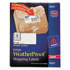 AVE5523 - WeatherProof Shipping Labels w/TrueBlock, Laser, White, 2 x 4, 500/Pack