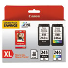 CNM8278B005 - 8278B005 (PG-245XL/CL-246XL) Ink & Paper Combo Pack, Black/Tri-Color