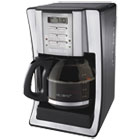 MFEBVMCSJX39 - 12-Cup Programmable Coffeemaker, Black/Brushed Silver
