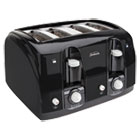 SUN39111 - Extra Wide Slot Toaster, 4-Slice, 11 3/4 x 13 3/8 x 8 1/4, Black