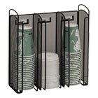 SAF3292BL - Onyx Breakroom Organizers, 3Compartments, 12.75x4.5x13.25, Steel Mesh, Black