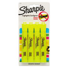 SAN25164PP - Accent Tank Style Highlighter, Chisel Tip, Fluorescent Yellow, 4/Set