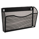 ROL21931 - Single Pocket Wire Mesh Wall File, Letter, Black