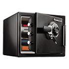 SENSFW082DTB - Fire-Safe  0.8 Cu. Ft. Combination with Key, 16 3/8 x 19 3/8 x 13 3/4, Black