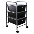 AVT34006 - Portable Drawer Organizer, 13w x 15 3/8d x 25 7/8h, Smoke/Matte Gray