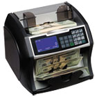 RSIRBC4500 - Electric Bill Counter w/Counterfeit Detection, 900-1400 Bills/Min, Black/Silver