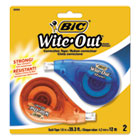 "BICWOTAPP21 - Wite-Out EZ Correct Correction Tape, Non-Refillable, 1/6"" x 472"", 2/Pack"