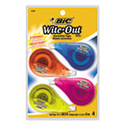 "BICWOTAPP418 - Wite-Out EZ Correct Correction Tape, Non-Refillable, 1/6"" x 400"", 4/Pack"