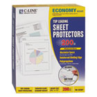 "CLI62067 - Economy Weight Poly Sheet Protector, Reduced Glare, 2"", 11 x 8 1/2, 200/BX"